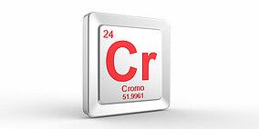 Simbolo del cromo nella tavola periodica