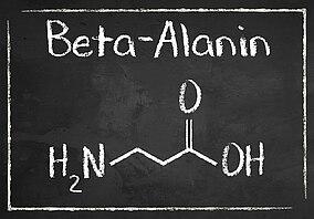Die chemische Formel von Beta-Alanin