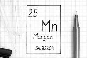 Bezeichnung von Mangan im Periodensystem