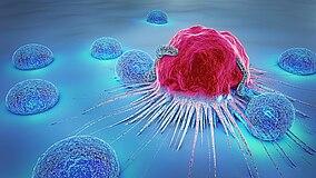 Darstellung einer Krebszelle