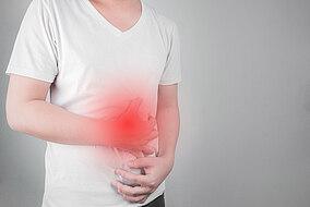 Darstellung von Magenschmerzen