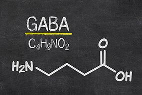 Die chemische Formel für GABA