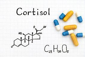 Die chemische Formel für Cortisol