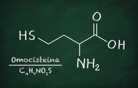 Immagine della formula chimica dell'omocisteina