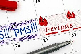 Kalendereinträge für PMS und die Periode