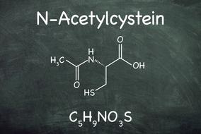Chemische Formel von N-Acetylcystein
