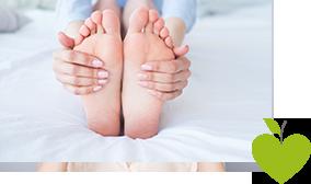 Abbildung von gesunden Füßen