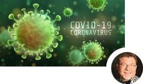 Illustrative Darstellung des COVID-19 Virus'
